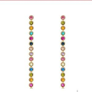 24k gold plated Australian Rhinestone Earrings